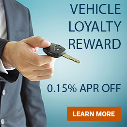 Vehicle Loyalty Reward. 0.15% APR off. Learn More.